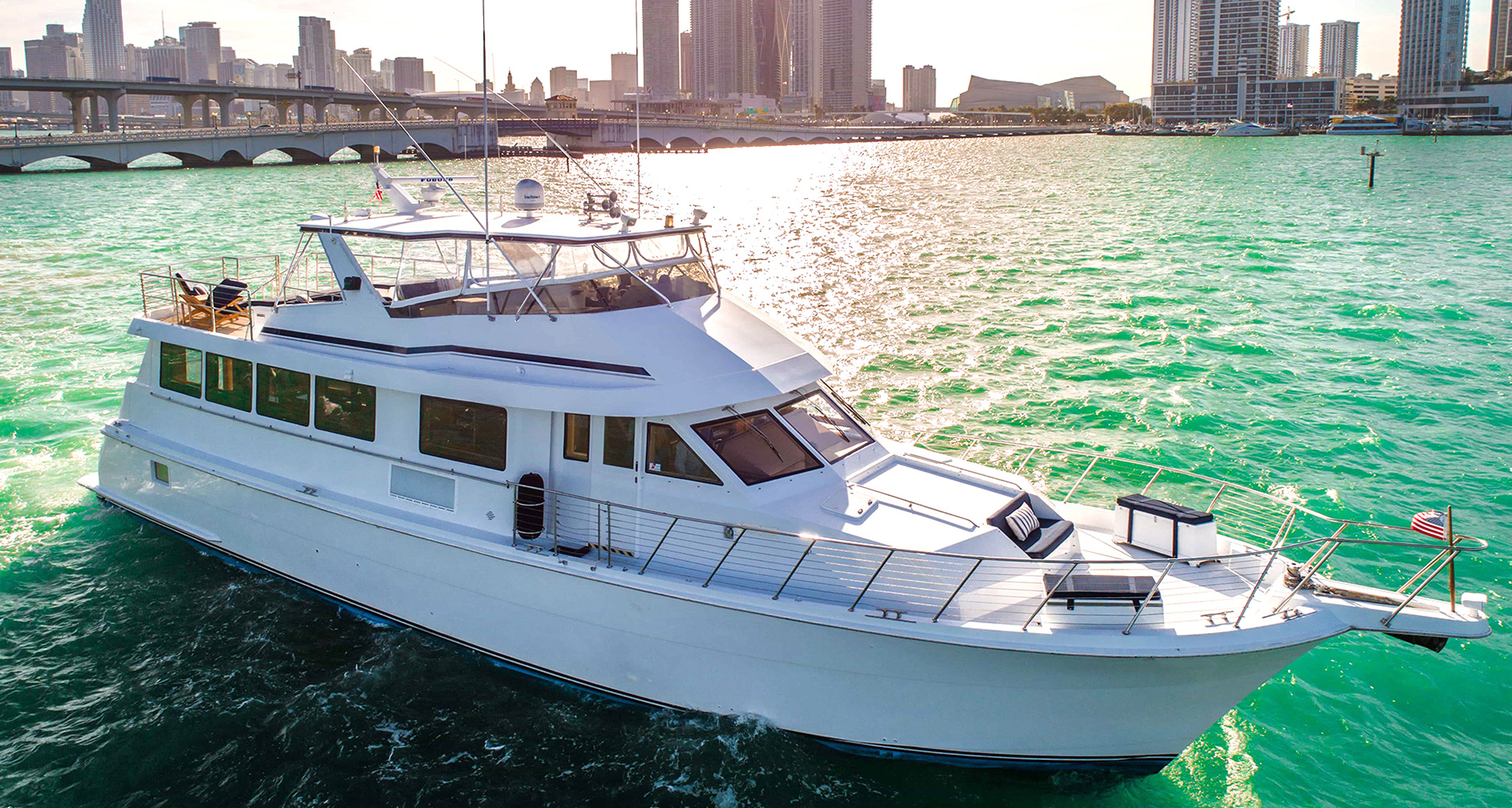 Hatteras Party Yacht Charter